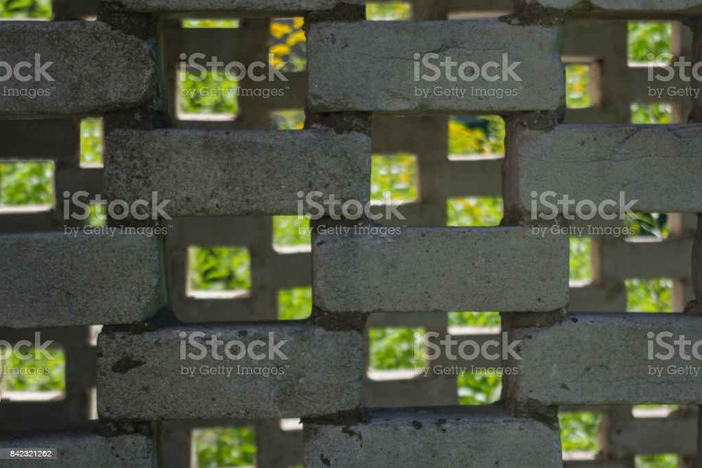Background surface mosaic from silicate bricks stock photo