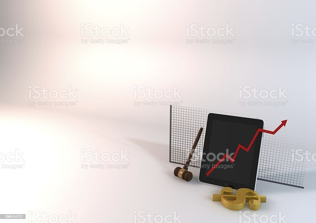 Background Tablet-Chart royalty-free stock photo