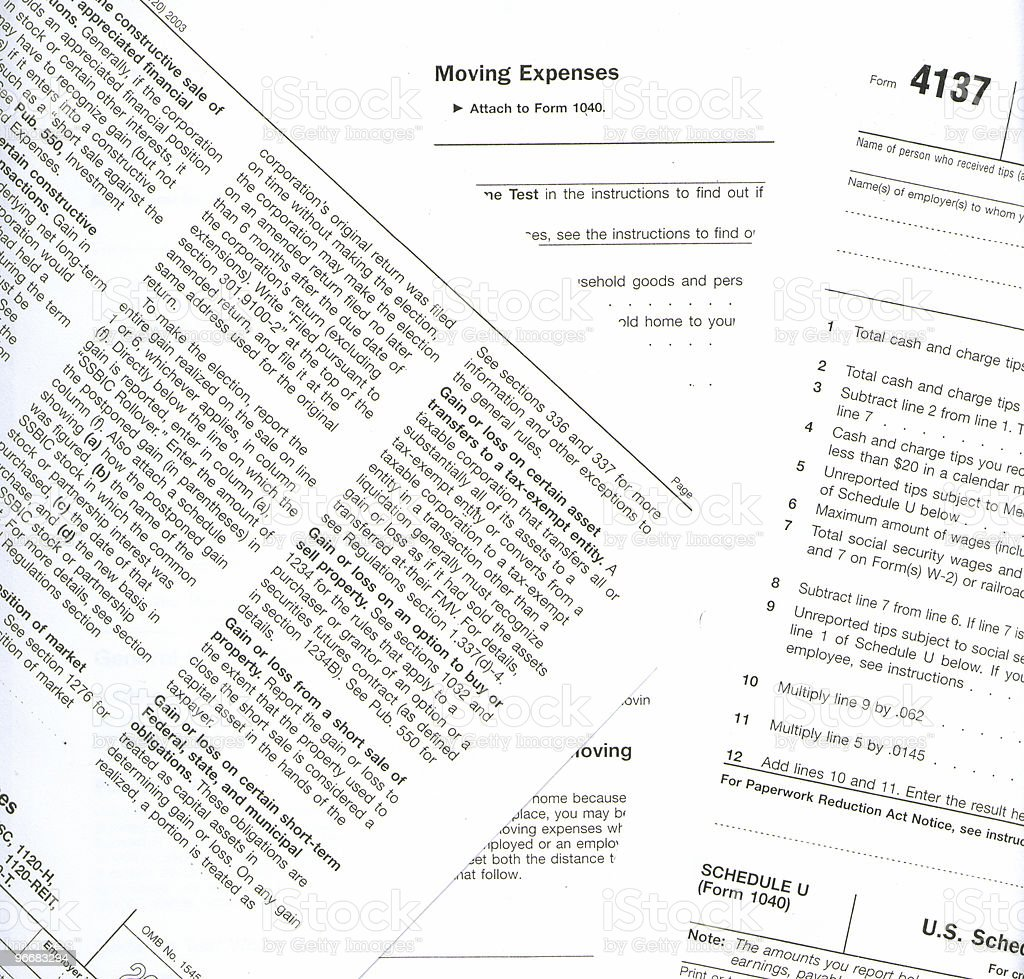 Background Tax Forms royalty-free stock photo