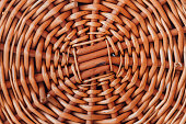 Background texture of a wicker woven basket