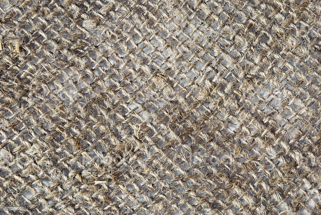 background texture of an ancient brown jute material royalty-free stock photo