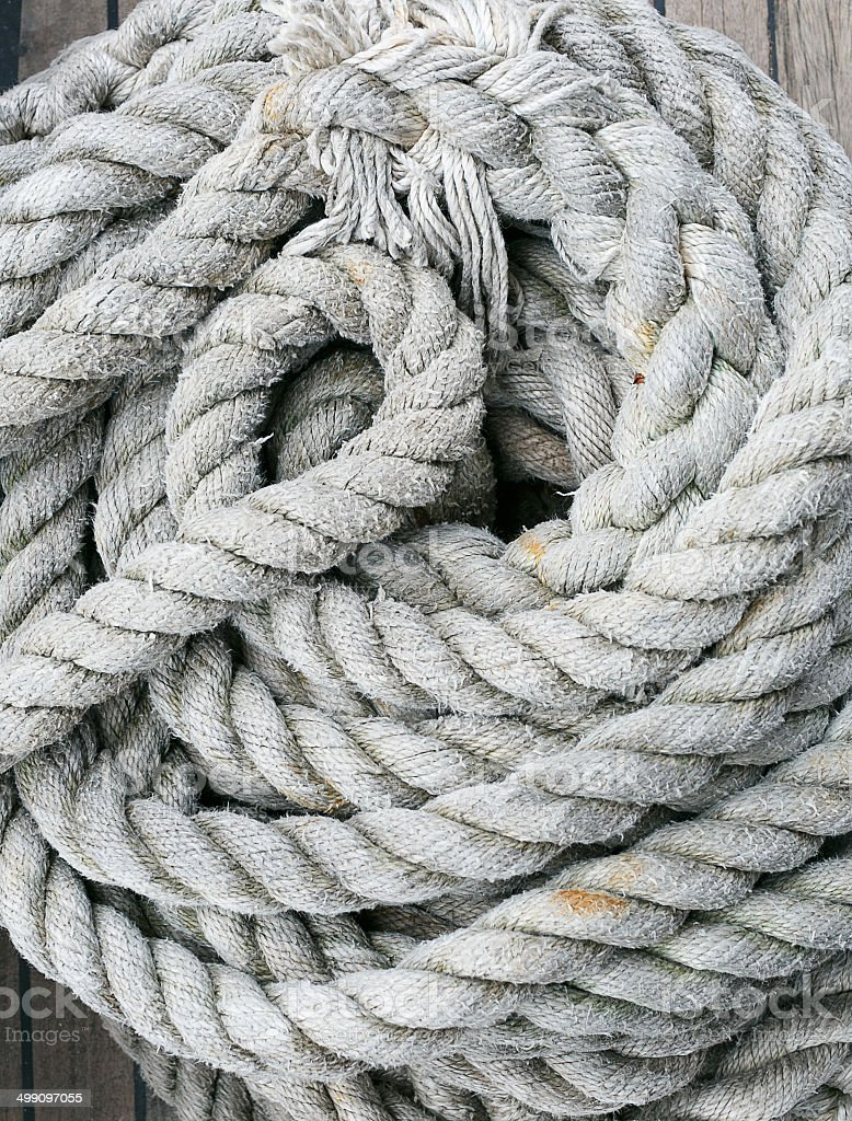 Background texture of coiled rope stock photo
