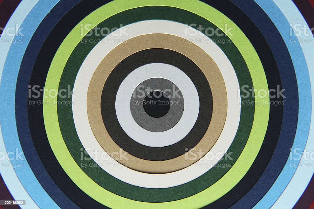 background texture of colored paper into circles stock photo