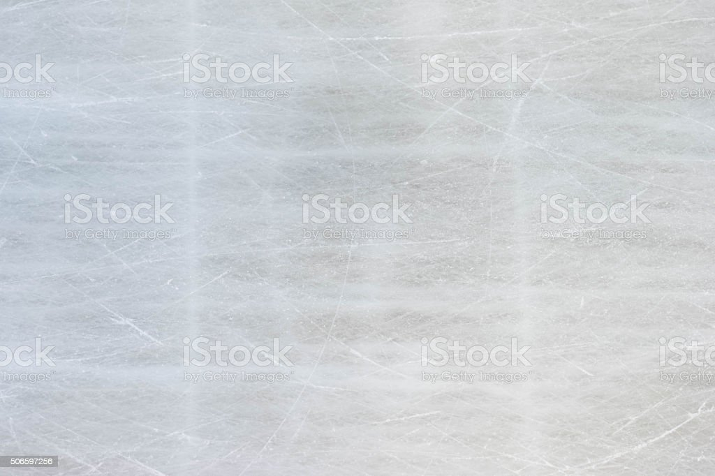 Background texture of ice skating rink with scratches stock photo