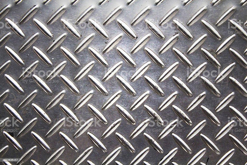 Background texture of metal diamond plate. stock photo