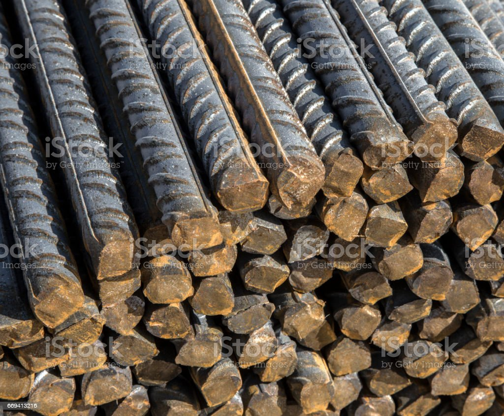 Background texture of steel rods stock photo