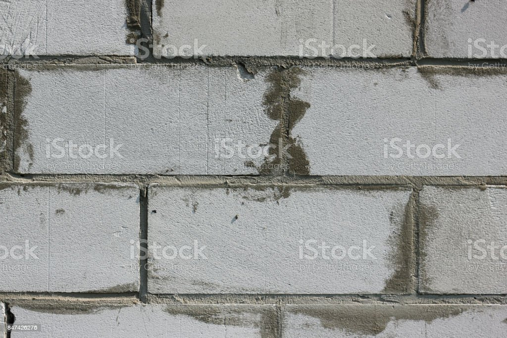 background texture of white Lightweight Concrete block stock photo