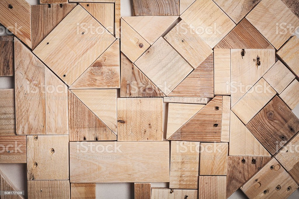 background texture of wood pieces stock photo