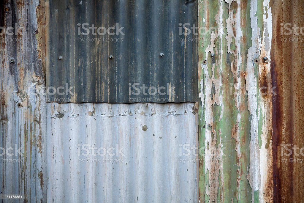 Background texture with metal siding royalty-free stock photo