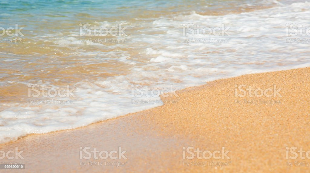 Background the sandy beach. stock photo