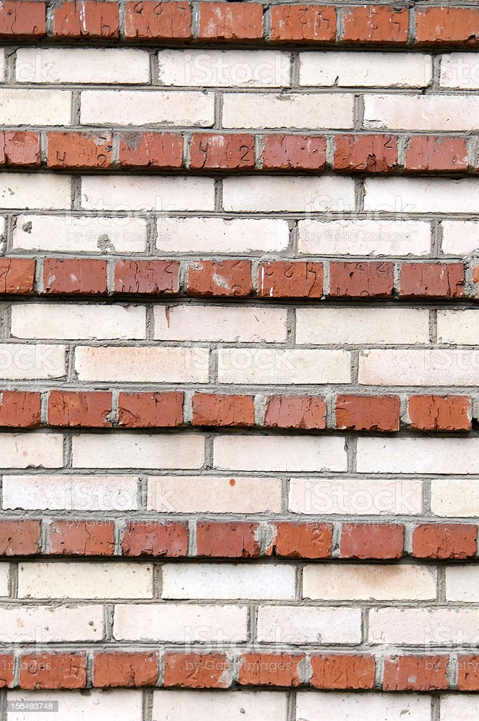 background  the stripes of red and white brick royalty-free stock photo