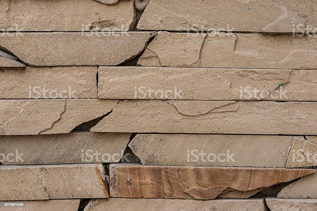 Background. The texture of natural stone for wall cladding stock photo
