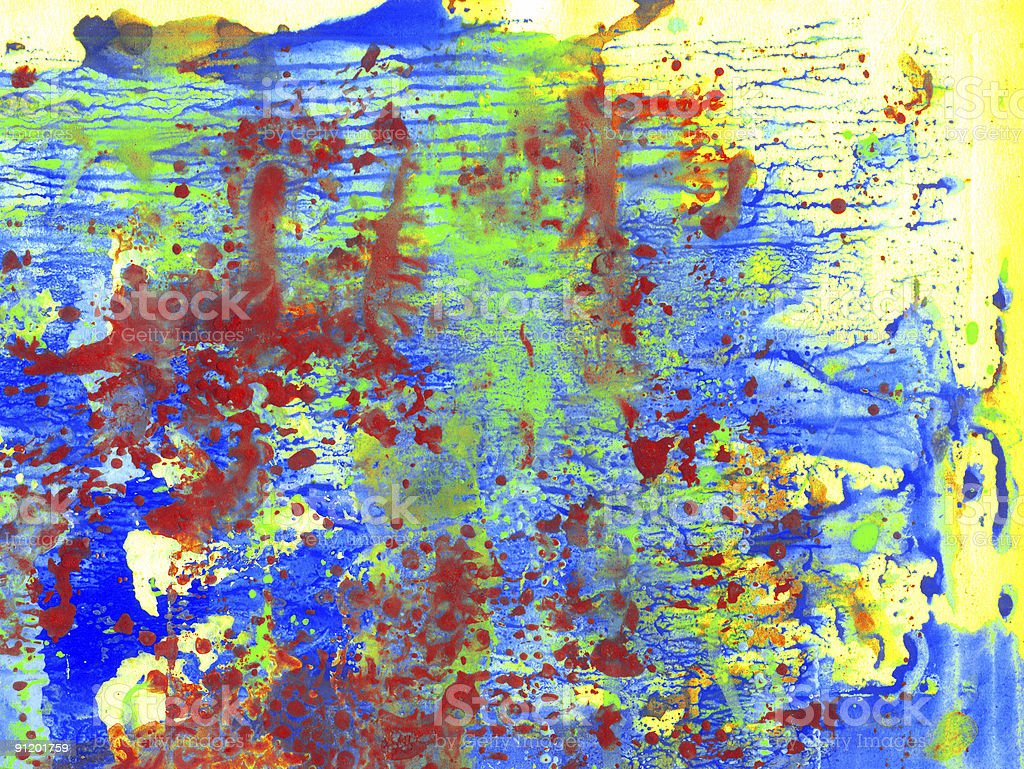 Background three colours paint royalty-free stock photo
