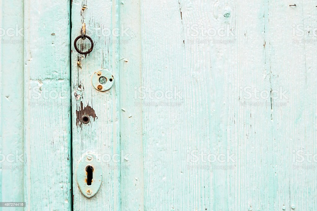Background Turquoise Wood Texture stock photo