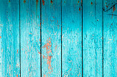 background vertical wooden planks with turquoise paint