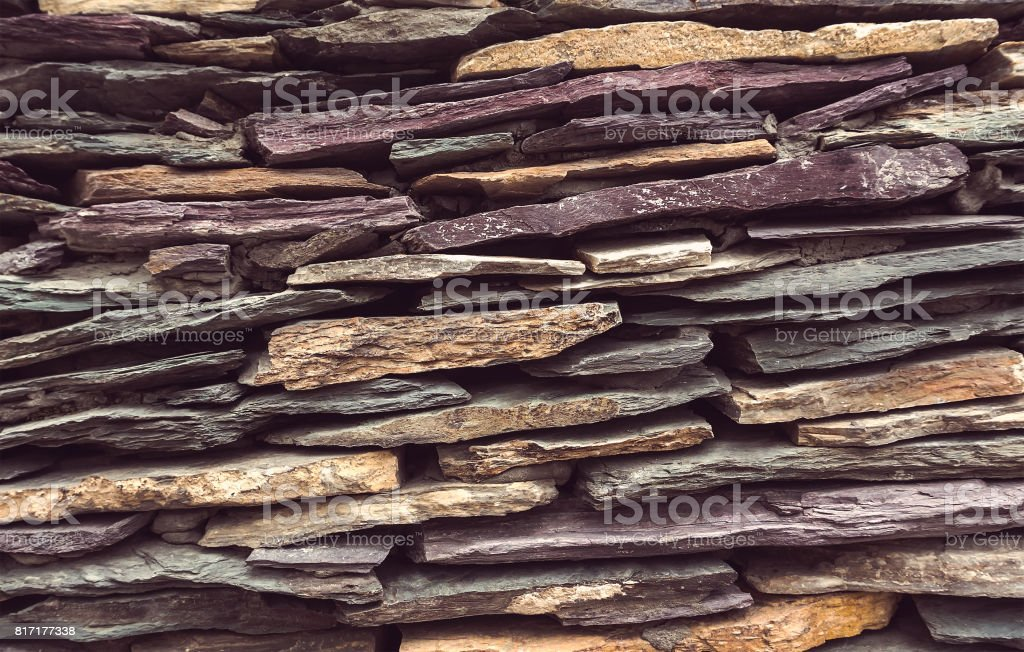 Background wall made of stone. stock photo