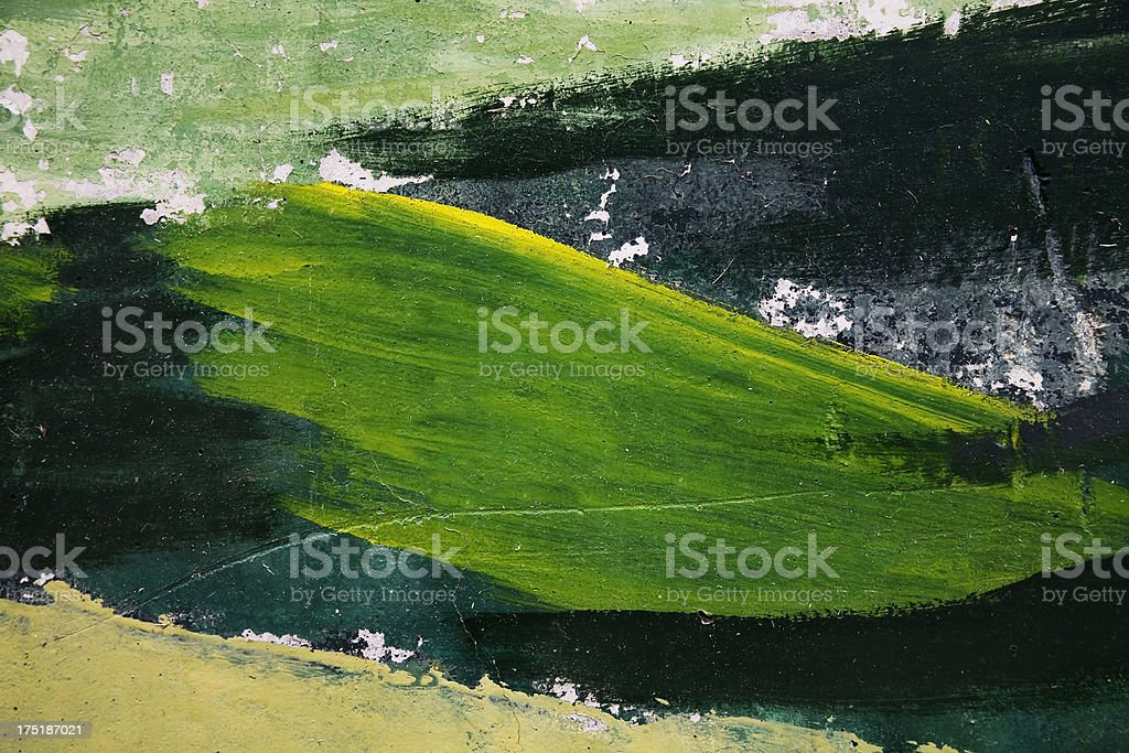 background wall painted with the artist's brush strokes royalty-free stock photo