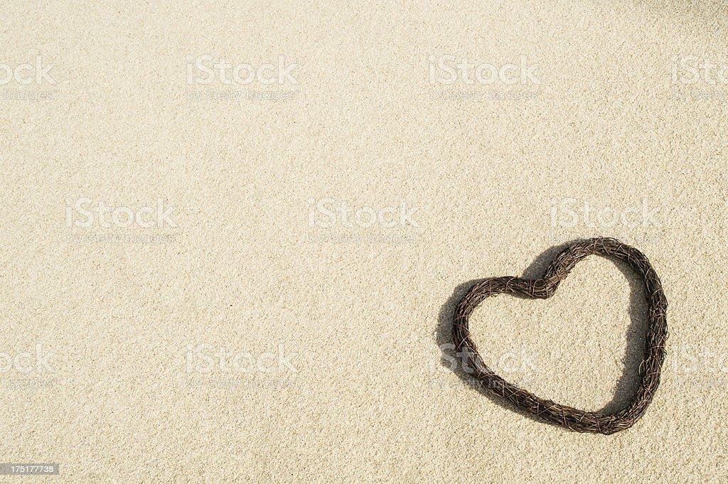 Background Wedding Heart Beach stock photo