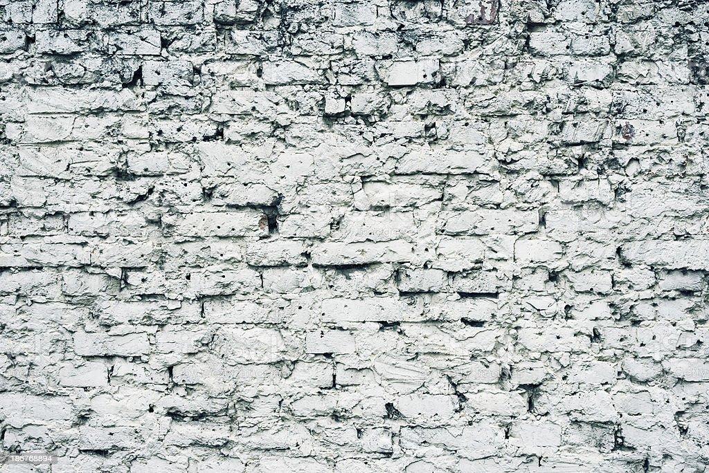 Background: white grungy brick wall pattern royalty-free stock photo