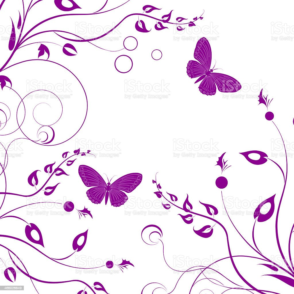 Background with butterfly royalty-free stock photo