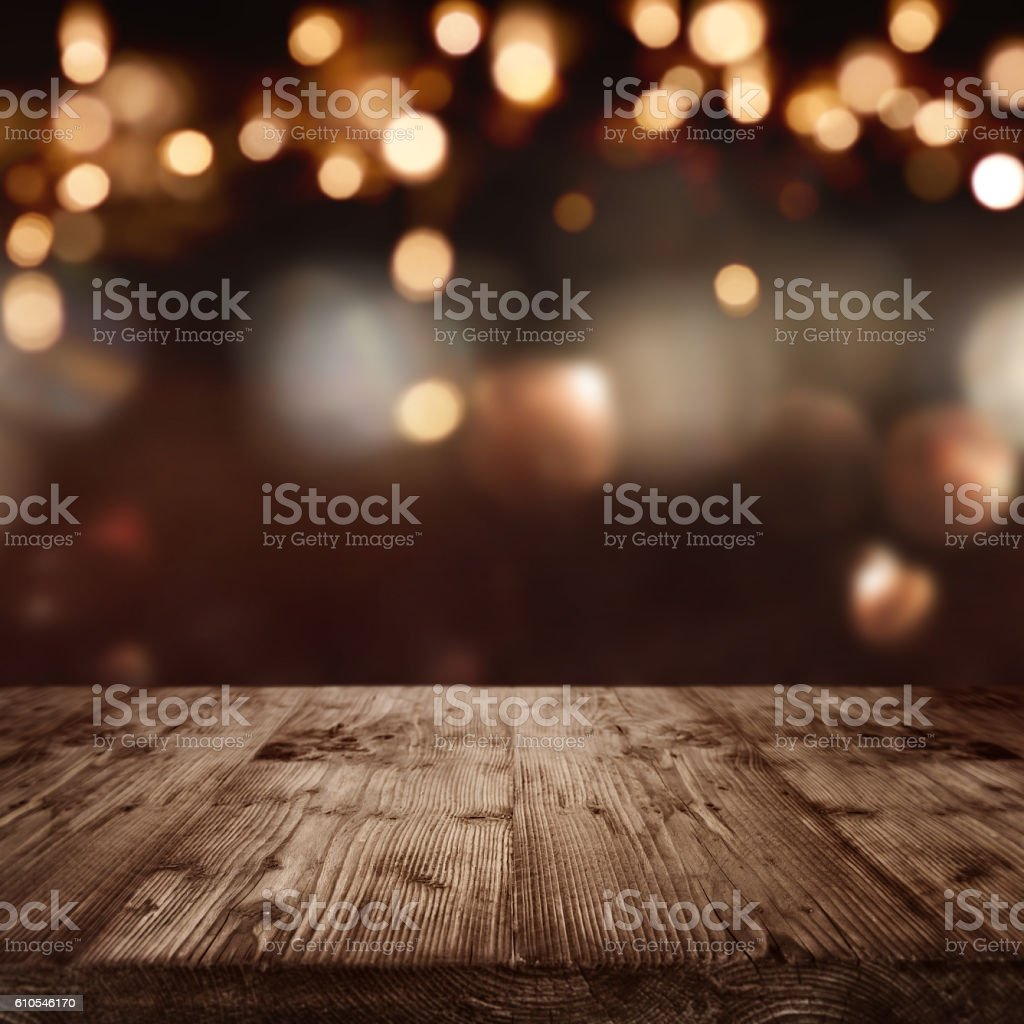 Background with christmas lights stock photo