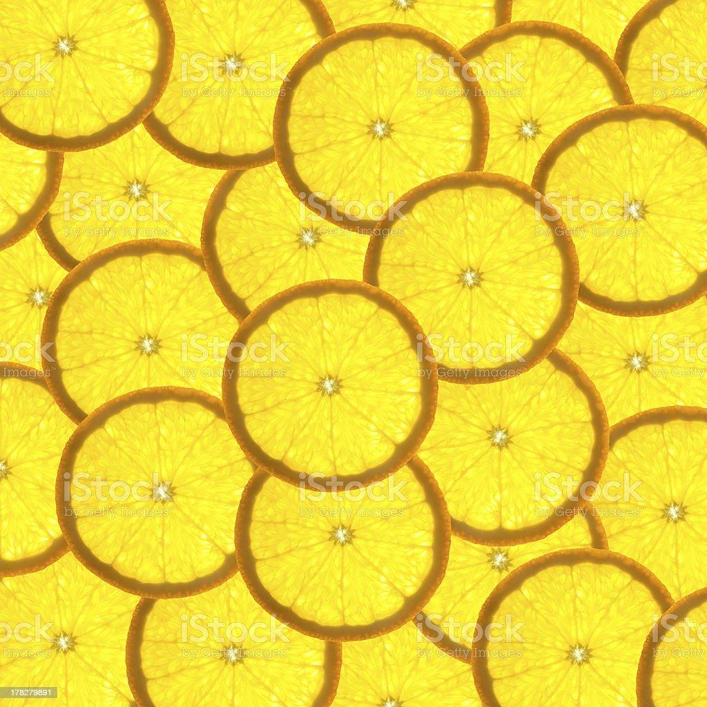 Background with citrus-fruit of orange slices  / back lit royalty-free stock photo