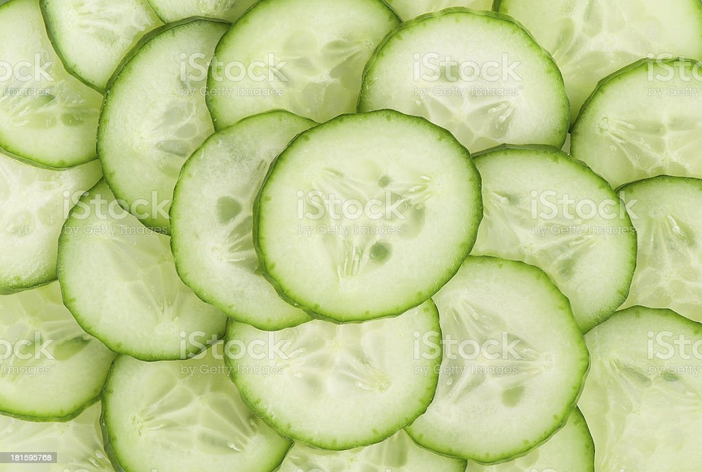 background with cucumbers royalty-free stock photo