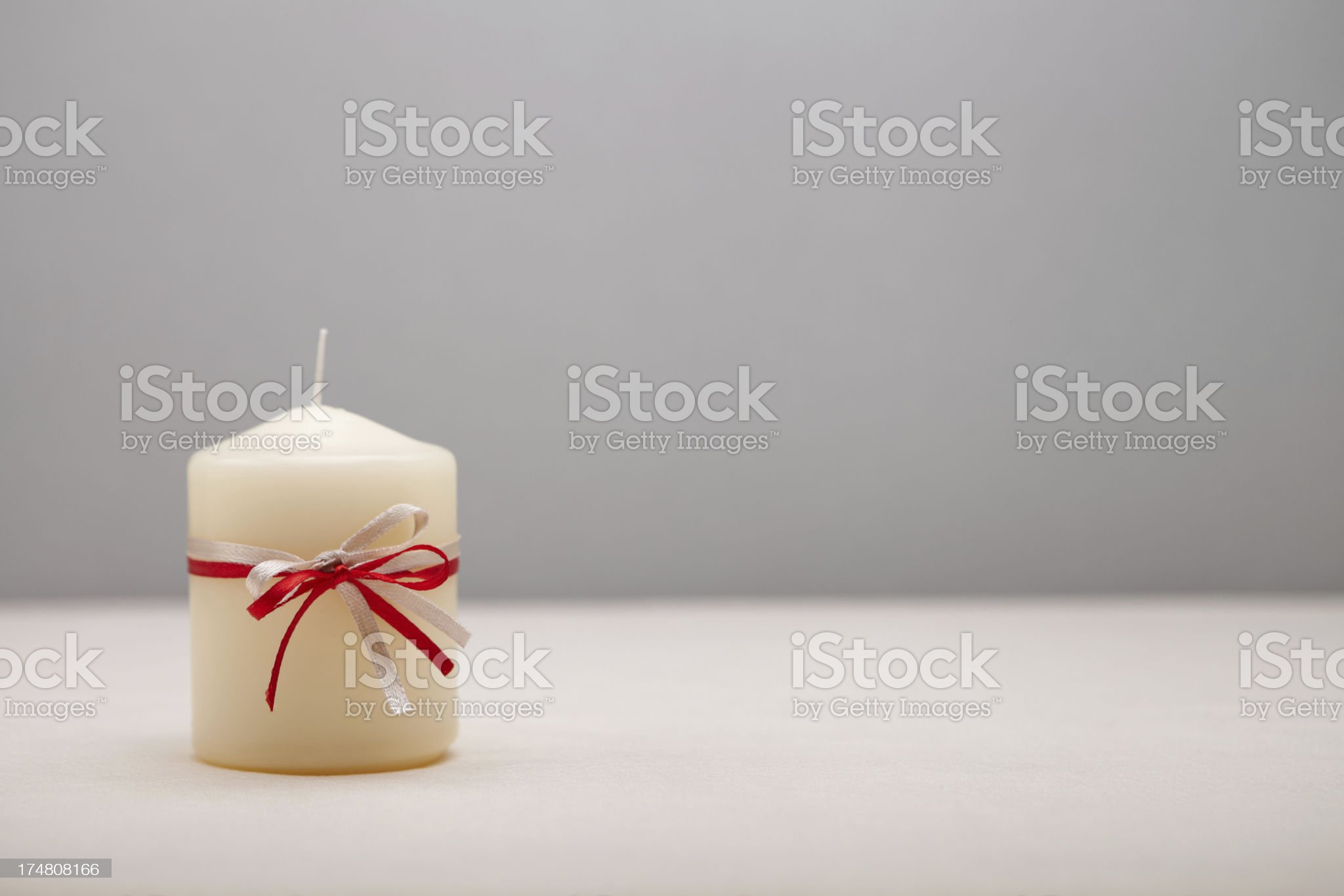 Background with decorated candle royalty-free stock photo