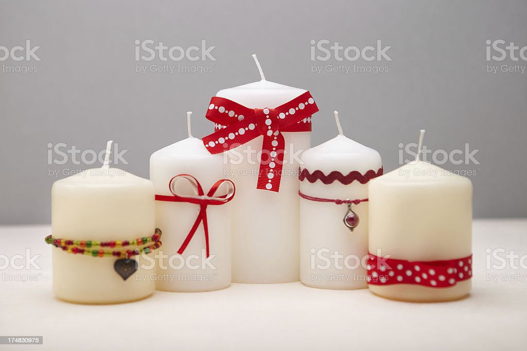 Background with decorated candles royalty-free stock photo