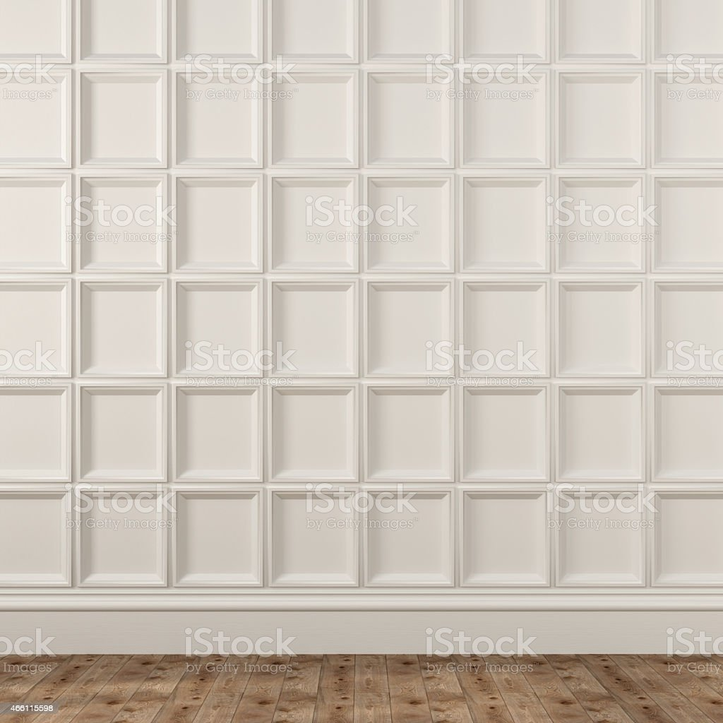 Background with decorative white wall stock photo