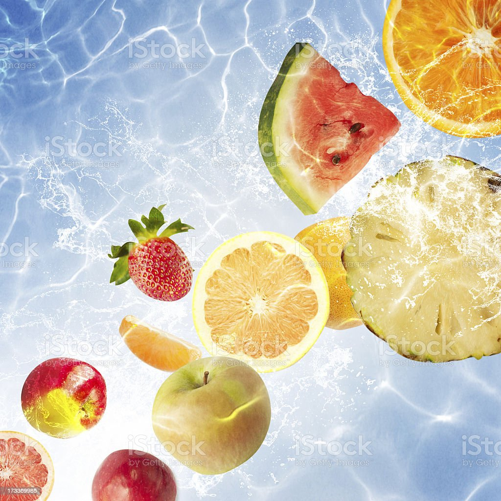 Background with fruits royalty-free stock photo
