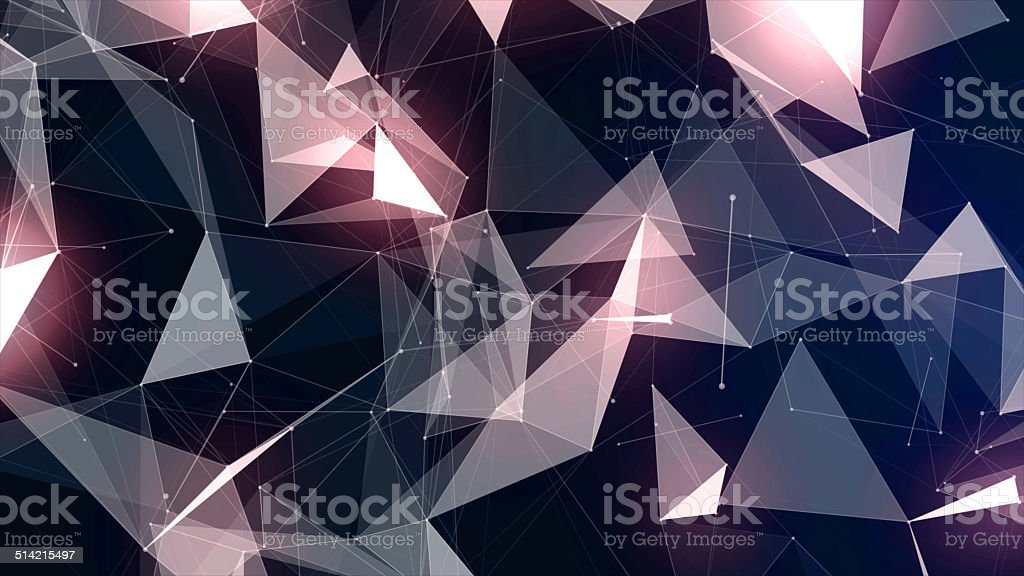 Background with geometric particles stock photo