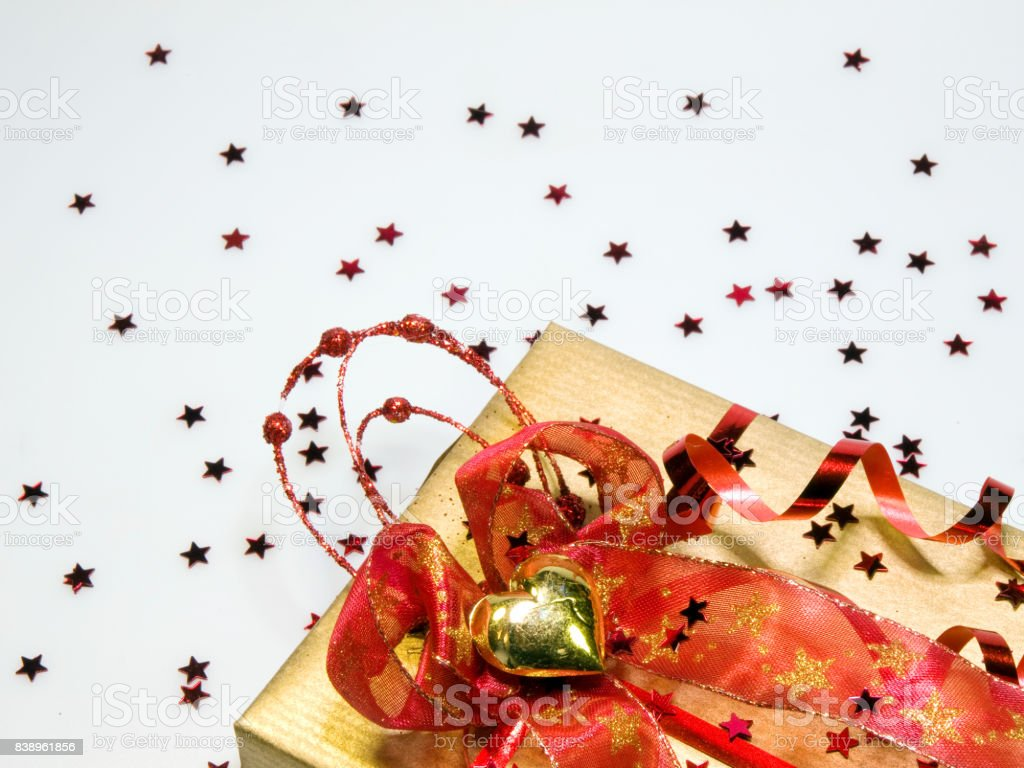 Background with gift stock photo