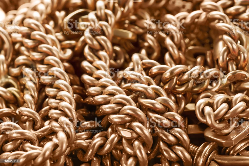 Background with golden chain stock photo