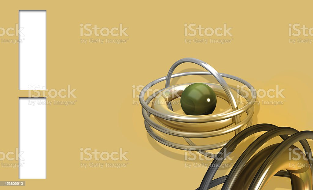 Background with green  ball royalty-free stock photo