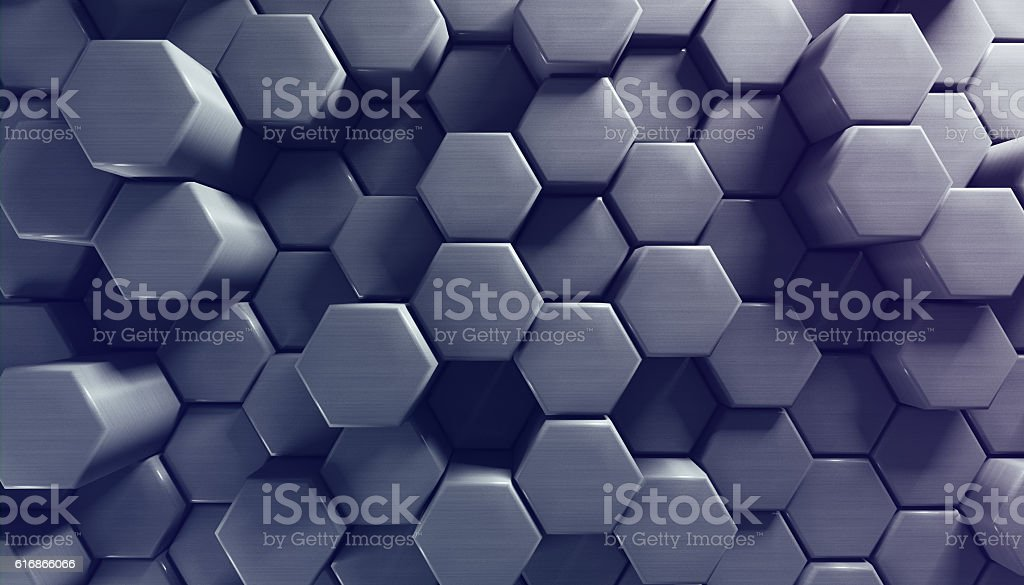 Background with hexagon texture stock photo
