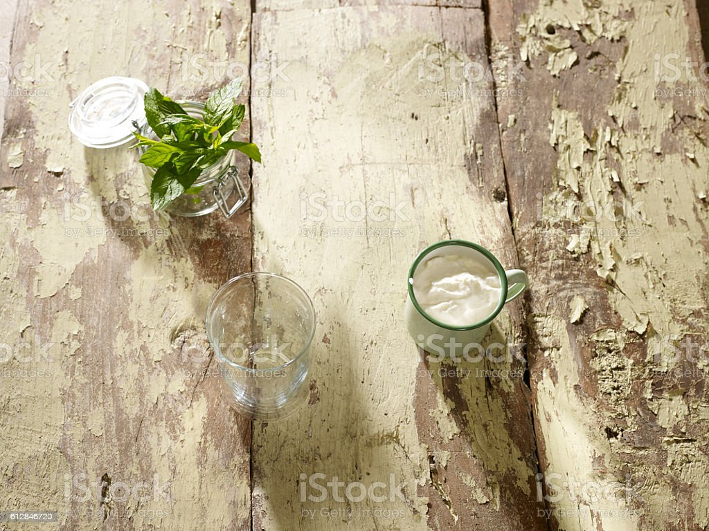 Background with ingredients stock photo