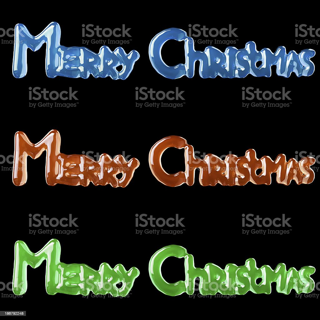 Background With Lettering Merry Christmas For Postcards stock photo