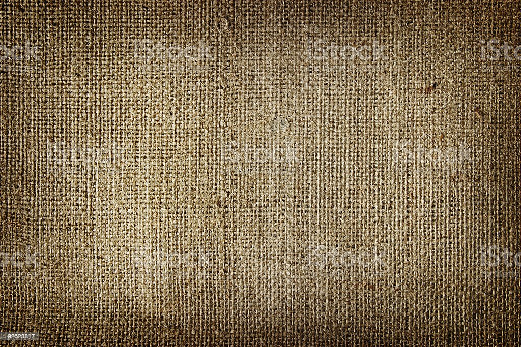 Background with lots of texture using burlap stock photo