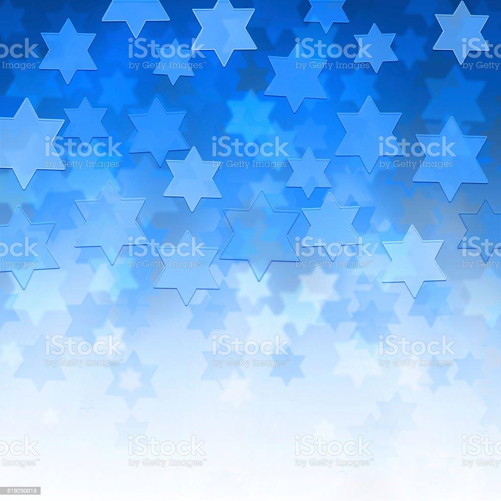 background with Magen David stars stock photo