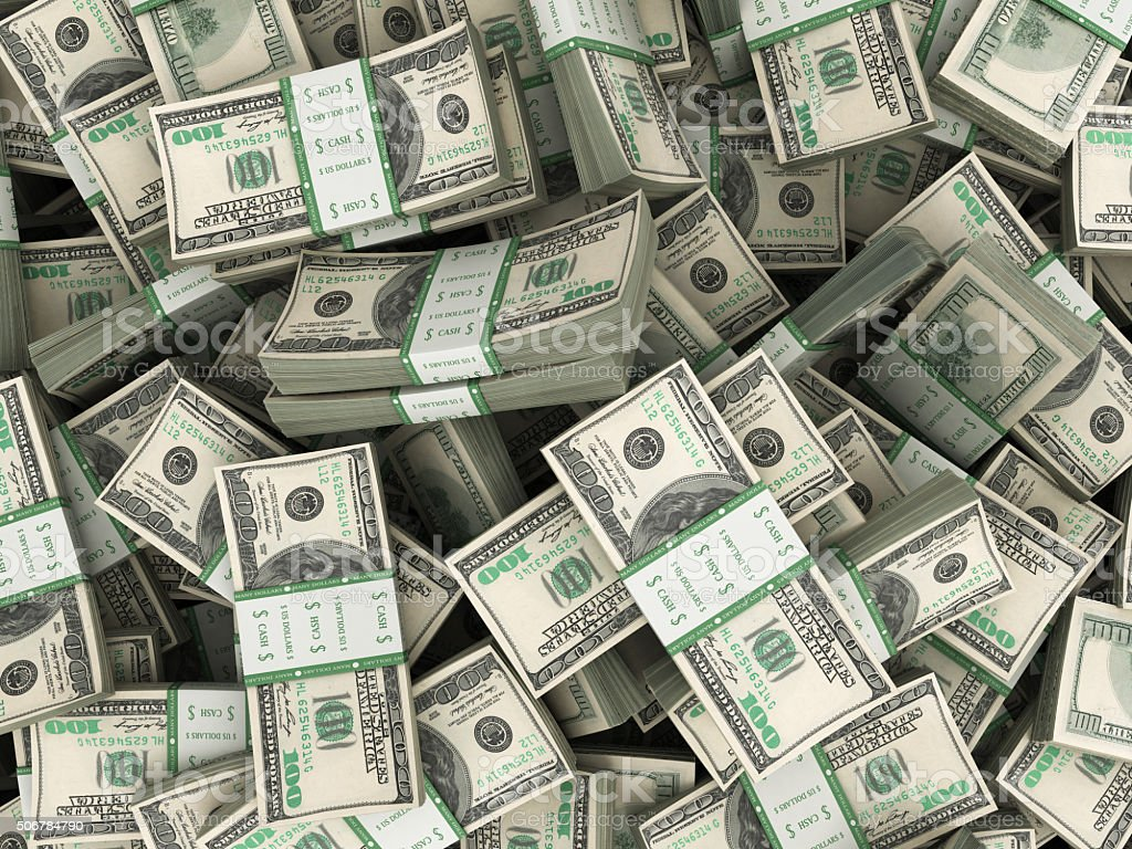 Background with money american hundred dollar bills stacks stock photo