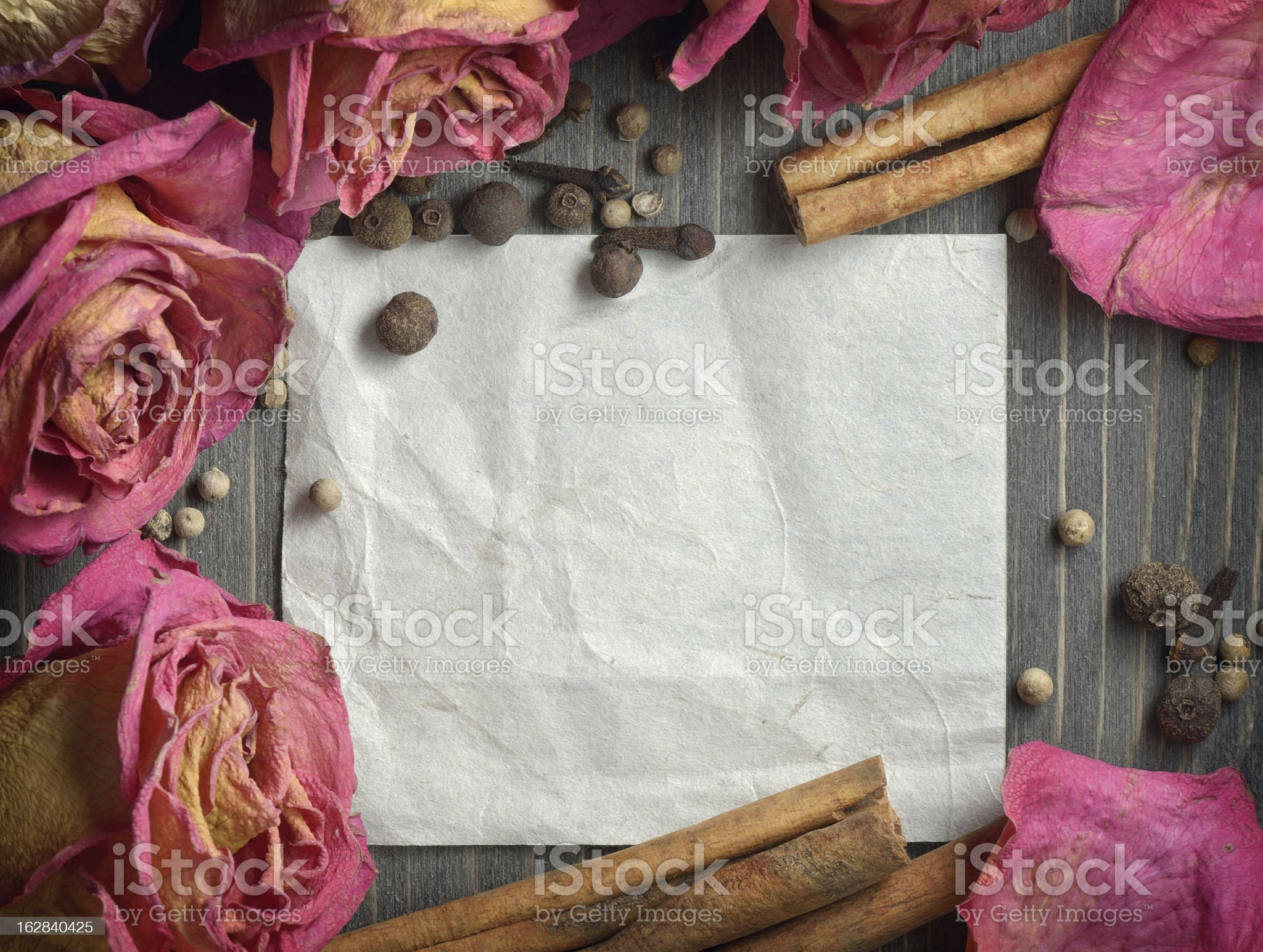 Background with natural decor royalty-free stock photo