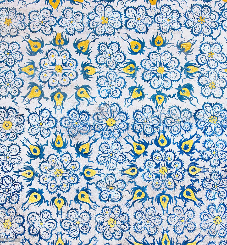 background with oriental ornaments royalty-free stock photo