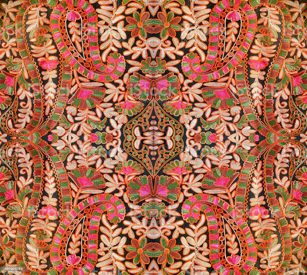 Background with Oriental pattern stock photo