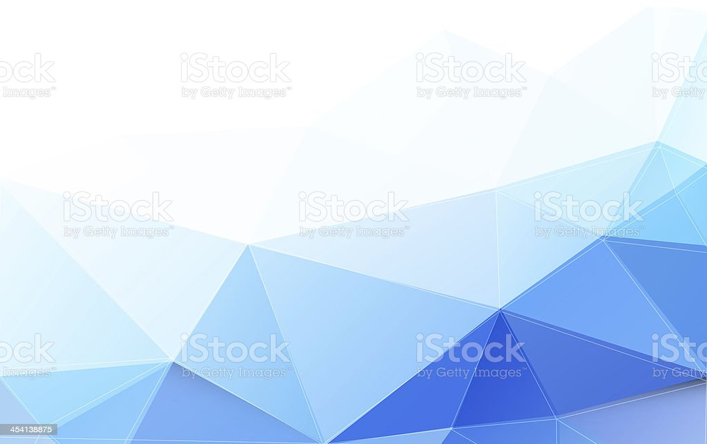 Background with polygons in varied shades of blue stock photo