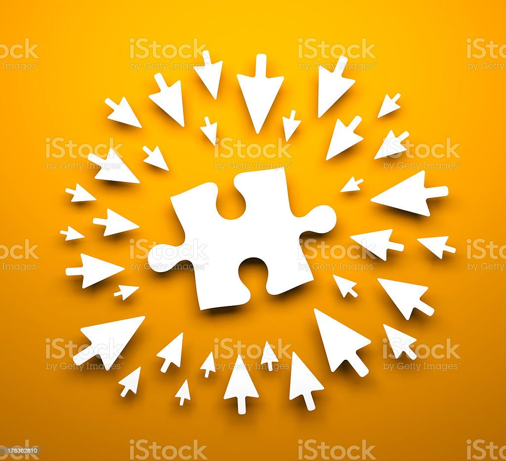 Background with puzzle stock photo