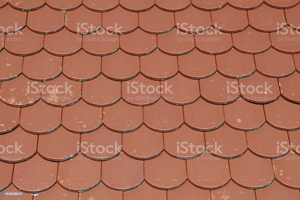 background with red roof royalty-free stock photo
