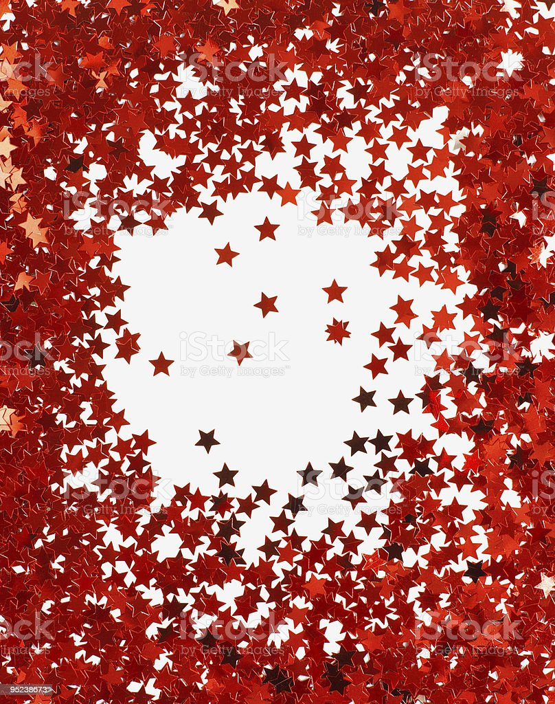 background with red stars isolated on white stock photo