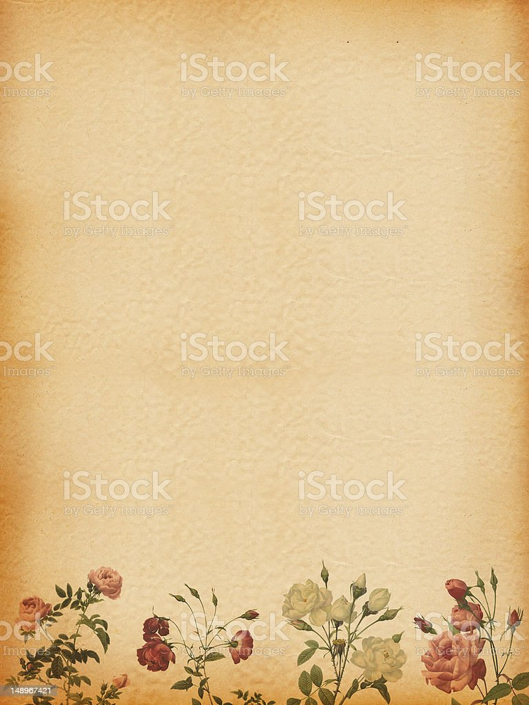 Background with Rose Frame royalty-free stock photo