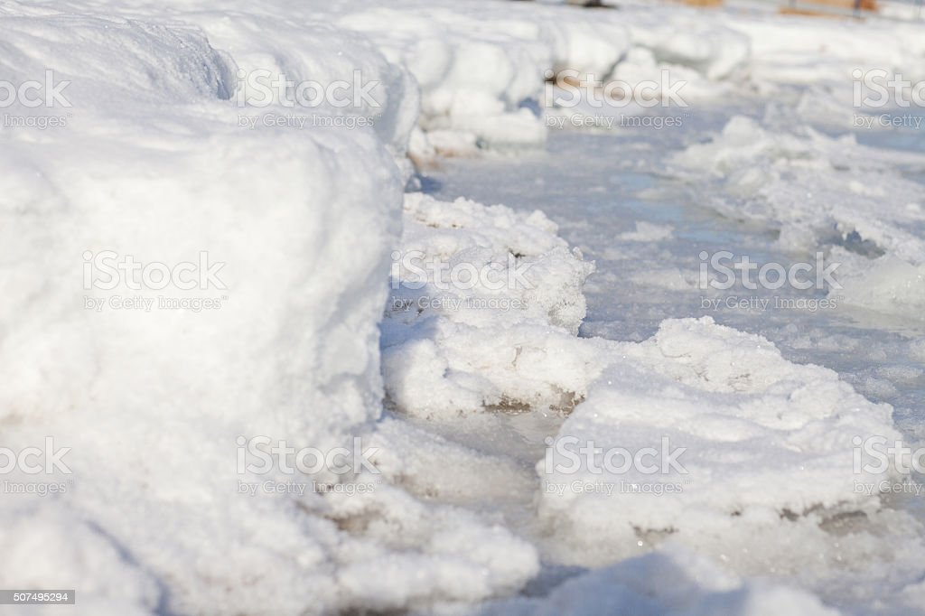 background with shattered ice stock photo